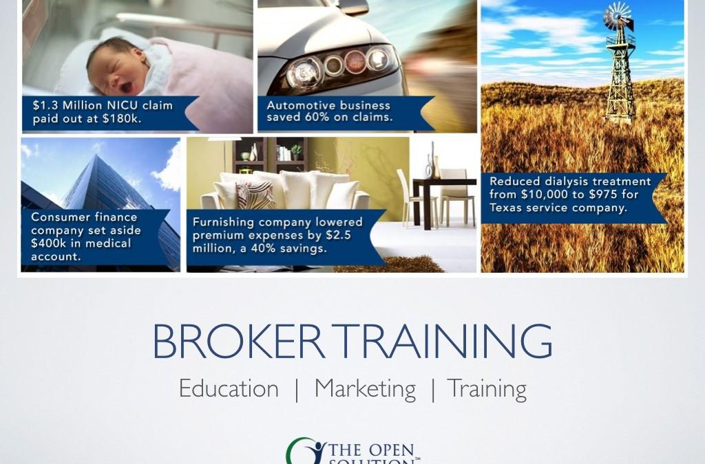 Broker Training: Education, Marketing, Training